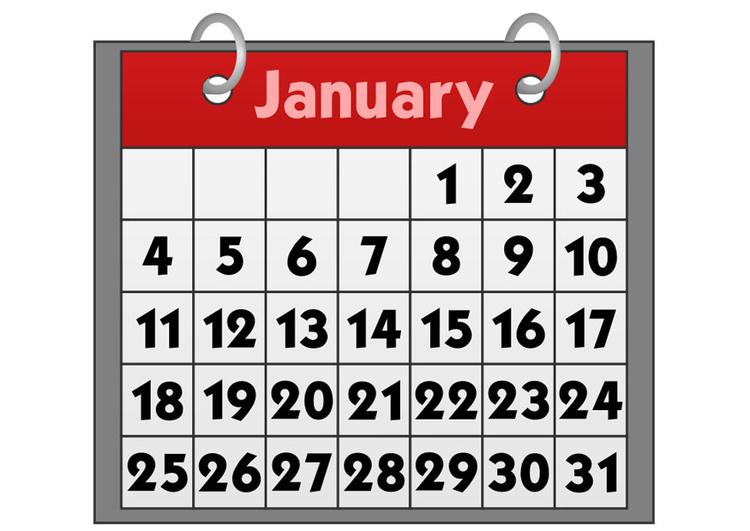 Afbeelding Prent Kalender Januari Afb 21157