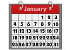 Afbeelding kalender - januari