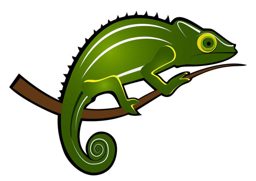 Afbeelding Prent Kameleon Afb 24670