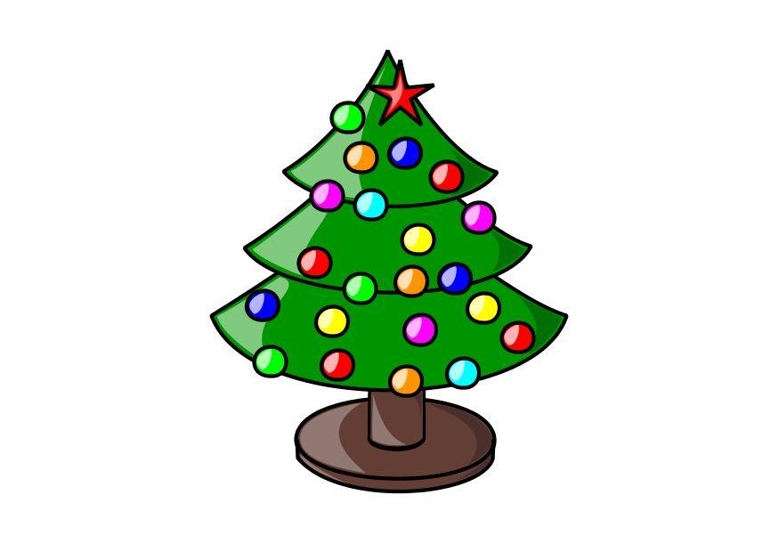 Afbeelding Prent Kerstboom Afb 10240