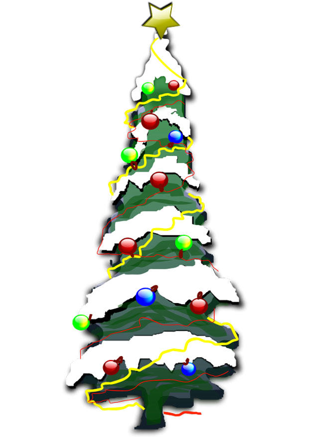 Afbeelding Prent Kerstboom Afb 20440