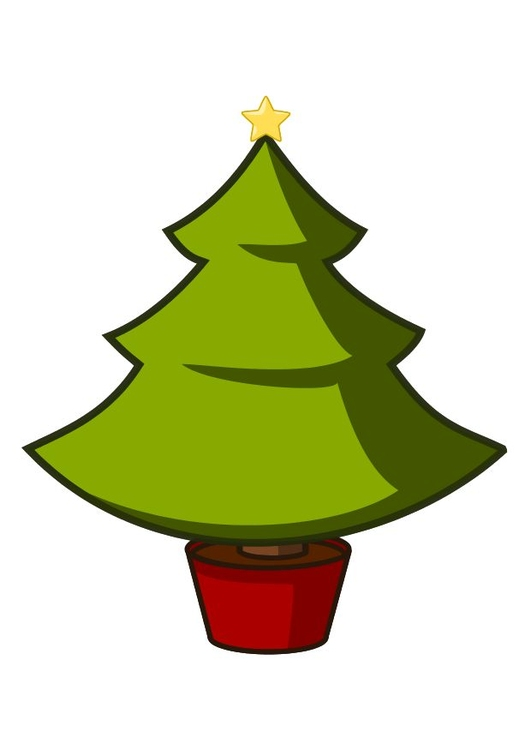 Afbeelding Prent Kerstboom Afb 10338
