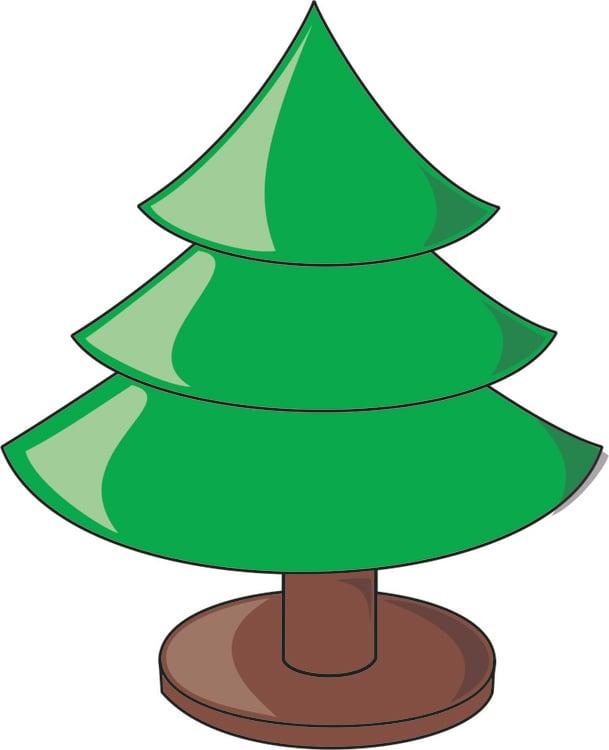 Afbeelding Prent Kerstboom Leeg Afb 16186