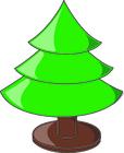 Afbeelding kerstboom leeg