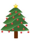 Afbeelding kerstboom met kerstballen