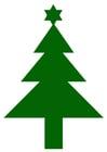 Afbeelding kerstboom met ster