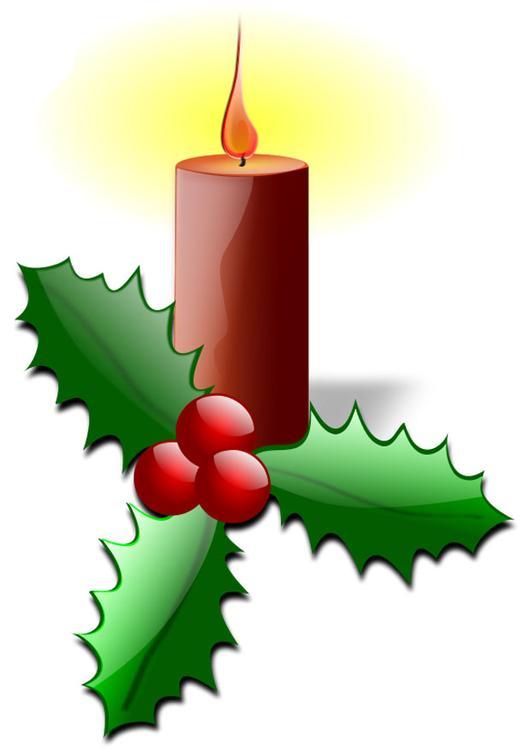 Afbeelding Prent Kerstkaars Met Hulst Afb 28147