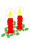 Afbeelding kerstkaarsen