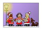 Afbeelding kerstlied zingen