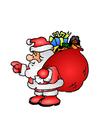 Afbeelding kerstman met speelgoed