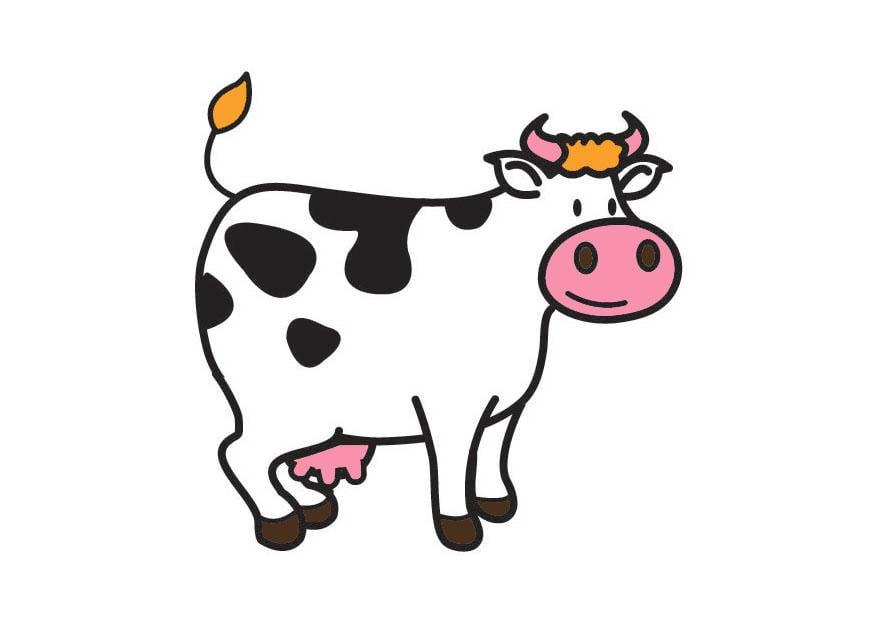 afbeelding prent koe afb 21000