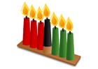Afbeelding Kwanzaa - kaarsen