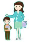 Afbeelding leerkracht en leerling