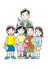 Afbeelding leerkracht en leerlingen