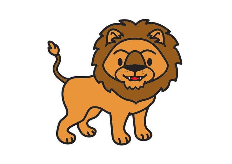 Afbeelding prent leeuw afb 20992 - Afbeelding in ...