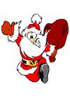 Afbeelding lopende kerstman