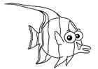 Kleurplaat maskerwimpelvis