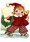 Afbeelding meisje in kerstpakje