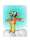 Afbeelding meisje in sneeuw