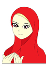 Afbeelding meisje met hoofddoek