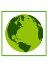 Afbeelding milieuvriendelijke aarde