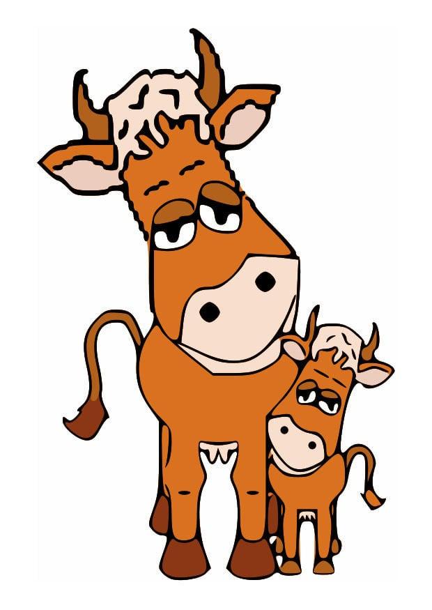 afbeelding moeder koe en kalf gratis afbeeldingen om te