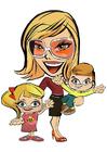 Afbeelding moeder met kinderen