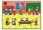 Afbeelding multiculturele klas
