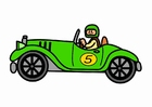Afbeelding oldtimer raceauto