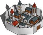 Afbeelding ommuurde stad