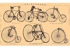 Afbeelding oude fietsen
