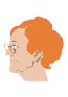 Afbeelding oude vrouw