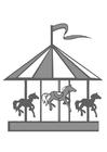 Kleurplaat paardenmolen