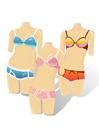 Afbeelding paspoppen met bikini's