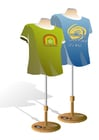 Afbeelding paspoppen met t-shirts