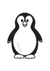 Kleurplaat pinguin