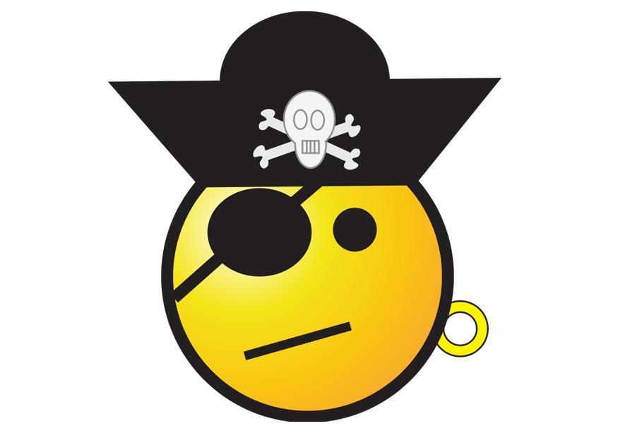 Afbeelding Prent Piraat Smiley Afb 22914