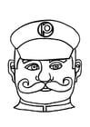 Kleurplaat masker politieagent