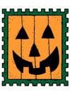 Afbeelding postzegel Halloween