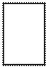 Kleurplaat postzegel rechthoek