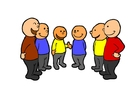 Afbeelding praten in groep