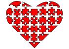 Afbeelding puzzel hart