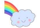 Afbeelding regenboog met wolk