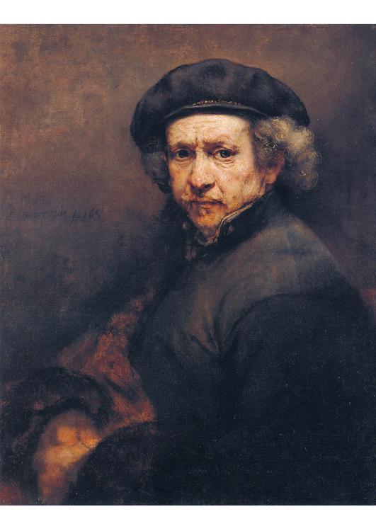 Afbeelding - prent Rembrandt - zelfportret - Afb 17056