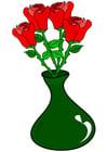 Afbeelding rozen in vaas