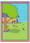 Afbeelding schaduw in het park