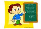 Afbeelding schoolbord - rekenen