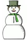 Afbeelding sneeuwpop