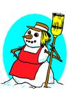 Afbeelding sneeuwvrouw
