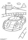 Kleurplaat sportauto